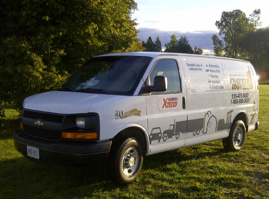 inventory express motor oil and lubricants van